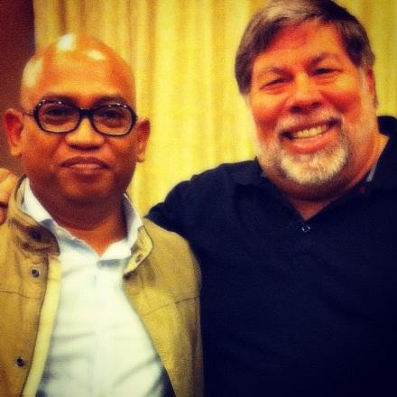 with Steve Wozniak